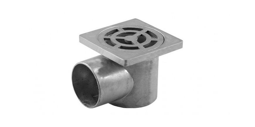 Подови алуминиеви сифони и капачки Ø32мм, Ø50мм, Ø110мм