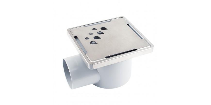 Дизайнерски сифони с клапа, с PVC рогова и подова основа и капачки от неръждаема стомана